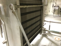 Counterflow plate wort chiller.