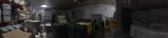 Pano of the hop freezer.