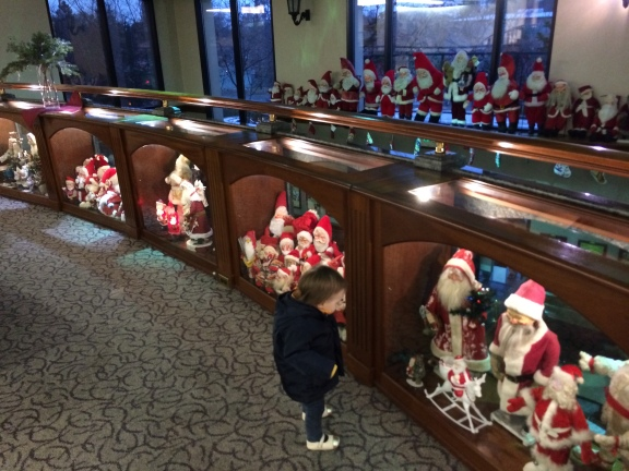 Gratuitous shot of my daughter enjoying the insanely large amount of Santa stuff (while Mommy takes a brewery tour) owned by Mrs. Sierra Nevada. There were multiple rooms. I'm talking a lot of Santa stuff.